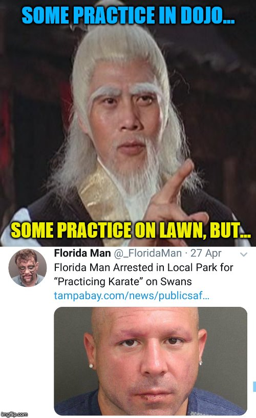 """Stupid swans think they're better than me?!!""  Florida Man Week (March 3-10, a Claybourne and Triumph_9 event) 