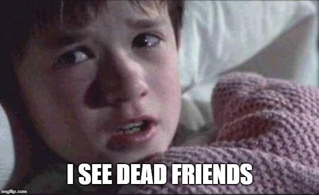 I See Dead People Meme | I SEE DEAD FRIENDS | image tagged in memes,i see dead people | made w/ Imgflip meme maker