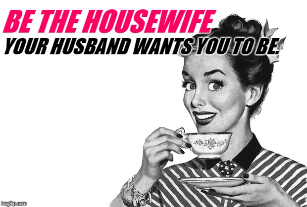 Housewife Goals | BE THE HOUSEWIFE YOUR HUSBAND WANTS YOU TO BE. | image tagged in 1950s housewife,goals,housewife,women,marriage,empowerment | made w/ Imgflip meme maker