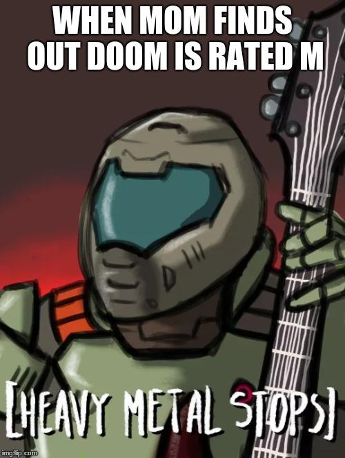 doom guy meme template