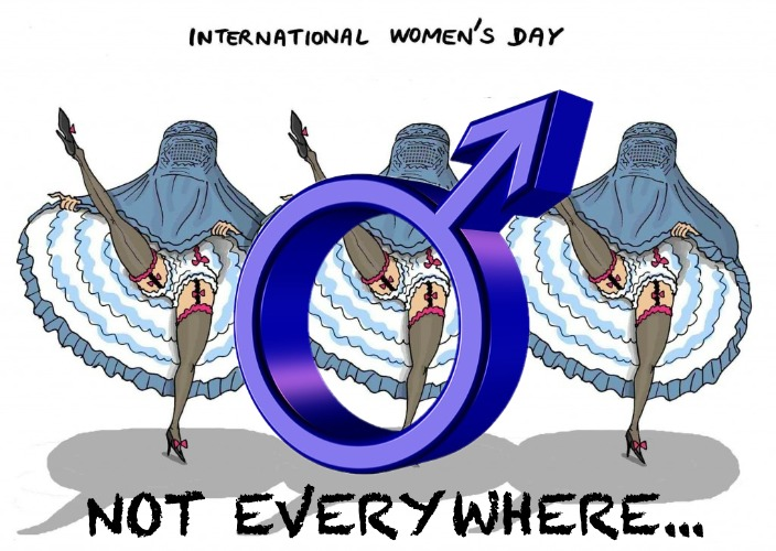 Not Everywhere... | NOT EVERYWHERE... | image tagged in womens day | made w/ Imgflip meme maker