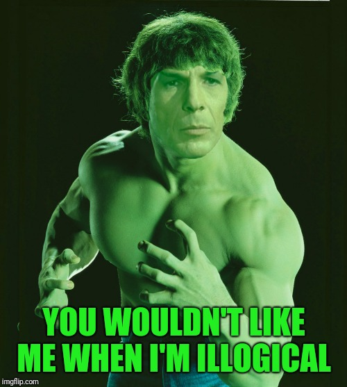 YOU WOULDN'T LIKE ME WHEN I'M ILLOGICAL | made w/ Imgflip meme maker
