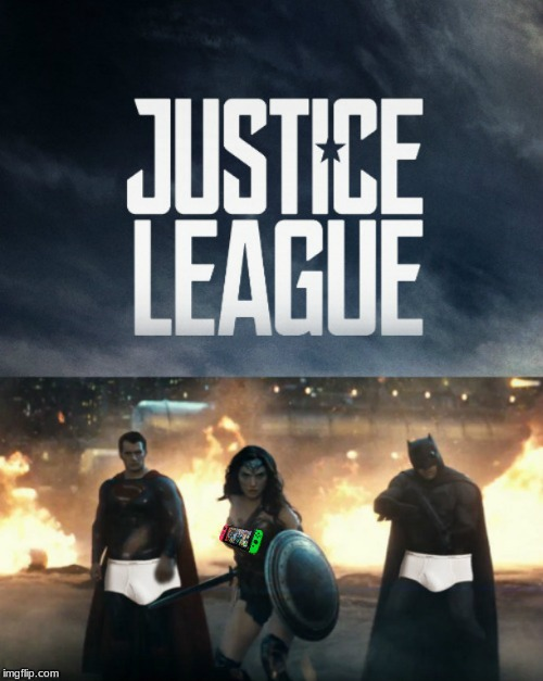 when you have sponsors . . . .  | image tagged in memes,justice league | made w/ Imgflip meme maker