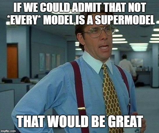 That Would Be Great Meme | IF WE COULD ADMIT THAT NOT *EVERY* MODEL IS A SUPERMODEL THAT WOULD BE GREAT | image tagged in memes,that would be great | made w/ Imgflip meme maker