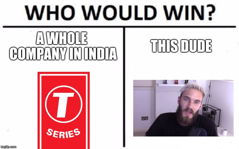 Who Would Win? Meme | A WHOLE COMPANY IN INDIA THIS DUDE | image tagged in memes,who would win | made w/ Imgflip meme maker