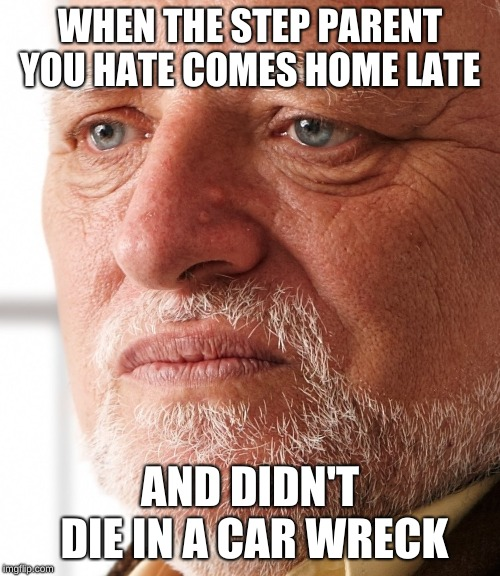 WHEN THE STEP PARENT YOU HATE COMES HOME LATE AND DIDN'T DIE IN A CAR WRECK | image tagged in dissapointment | made w/ Imgflip meme maker