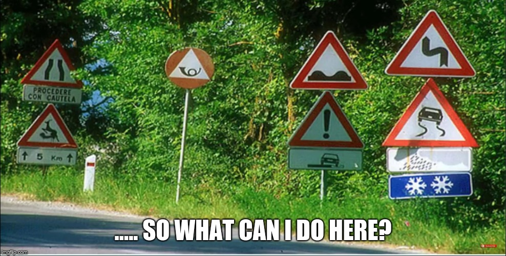 Alaska Roads Be Like | ..... SO WHAT CAN I DO HERE? | image tagged in memes,funny,stupid signs,driving | made w/ Imgflip meme maker