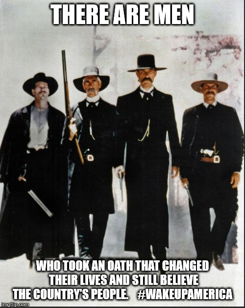 THERE ARE MEN WHO TOOK AN OATH THAT CHANGED THEIR LIVES AND STILL BELIEVE THE COUNTRY'S PEOPLE.    #WAKEUPAMERICA | image tagged in tombstone | made w/ Imgflip meme maker