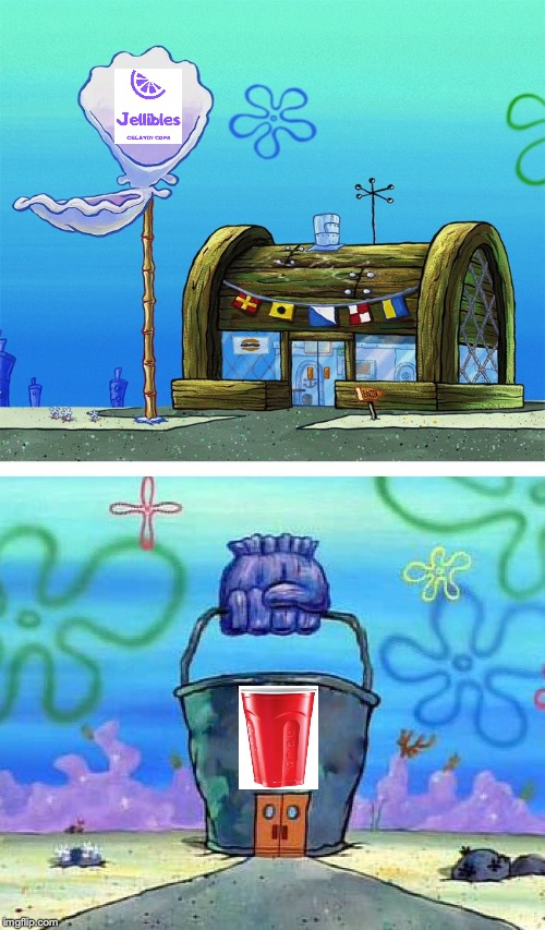 Krusty Krab Vs Chum Bucket Blank | image tagged in memes,krusty krab vs chum bucket blank | made w/ Imgflip meme maker