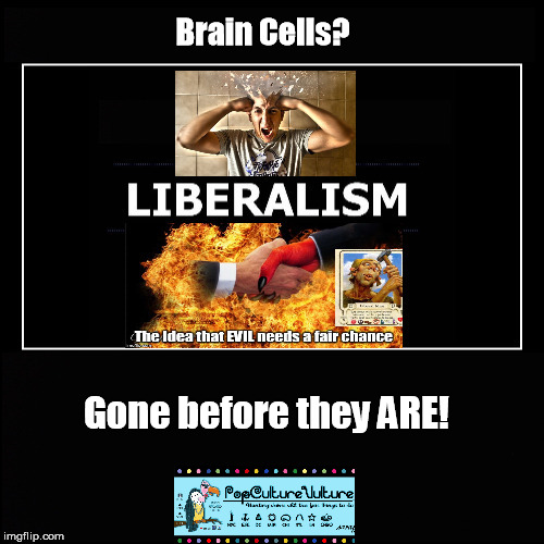 Brain Cells denied growth opportunity | Brain Cells? Gone before they ARE! | image tagged in liberalism,idiot,brain wash | made w/ Imgflip meme maker