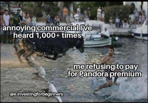 I'm too cheap for to pay for Pandora Premium and this is what I get | image tagged in memes,funny,pandora,annoying,commercials | made w/ Imgflip meme maker