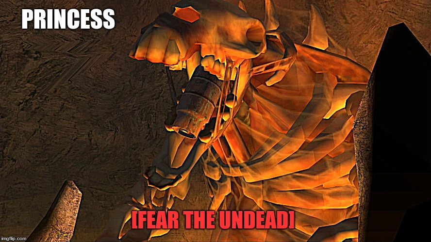 TimeSplitters FP Princess | PRINCESS [FEAR THE UNDEAD] | image tagged in timesplitters fp princess,timesplitters,undead,time to die,memes,fear the undead | made w/ Imgflip meme maker