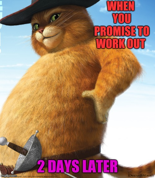 WHEN YOU PROMISE TO WORK OUT 2 DAYS LATER | image tagged in fatboy | made w/ Imgflip meme maker