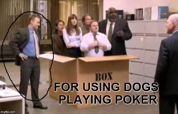 Thinking Outside the Box | FOR USING DOGS PLAYING POKER | image tagged in thinking outside the box | made w/ Imgflip meme maker
