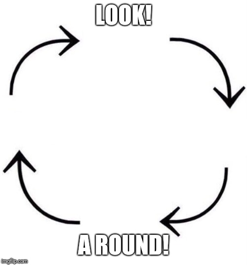 You might not get the joke. | LOOK! A ROUND! | image tagged in the circle of life | made w/ Imgflip meme maker
