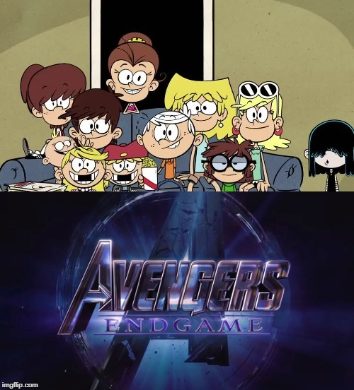 Loud siblings watch Avengers: Endgame trailer  | image tagged in the loud house,nickelodeon,avengers,marvel,trailer,cartoon | made w/ Imgflip meme maker