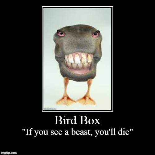 "Bird Box | ""If you see a beast, you'll die"" 