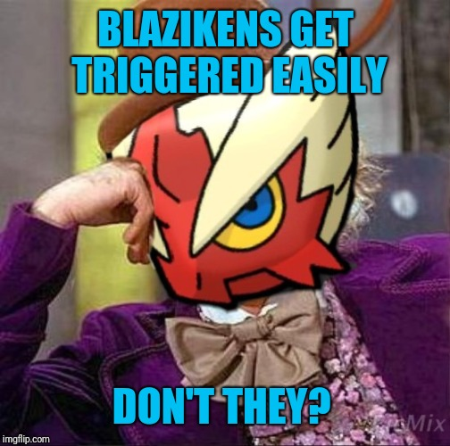 BLAZIKENS GET TRIGGERED EASILY DON'T THEY? | made w/ Imgflip meme maker
