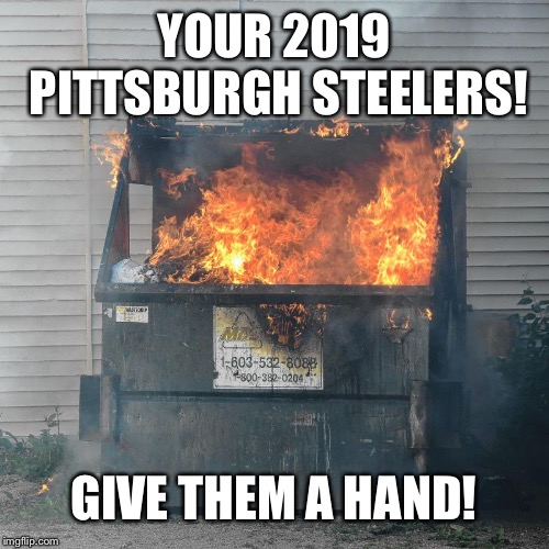 YOUR 2019 PITTSBURGH STEELERS! GIVE THEM A HAND! | image tagged in browns team pic | made w/ Imgflip meme maker