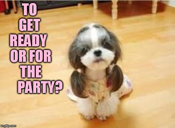 TO   GET    READY     OR FOR    THE         PARTY? | made w/ Imgflip meme maker