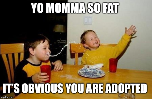 Yo Momma So Fat | YO MOMMA SO FAT IT'S OBVIOUS YOU ARE ADOPTED | image tagged in yo momma so fat | made w/ Imgflip meme maker