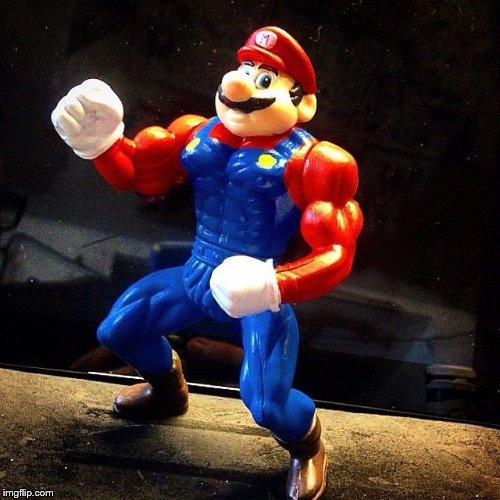 Mario's been hitting the gym | image tagged in buff,mario,nintendo,bootleg | made w/ Imgflip meme maker
