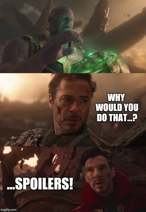 Why Would Dr. Strange Give Thanos The Time Stone? | WHY WOULD YOU DO THAT...? ...SPOILERS! | image tagged in marvel,mcu,avengers infinity war,avengers endgame,marvel cinematic universe | made w/ Imgflip meme maker