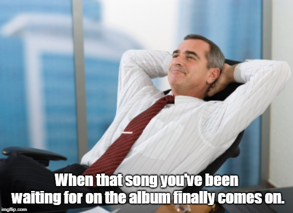 When that song you've been waiting for on the album finally comes on. | image tagged in satisfaction satisfy,memes | made w/ Imgflip meme maker