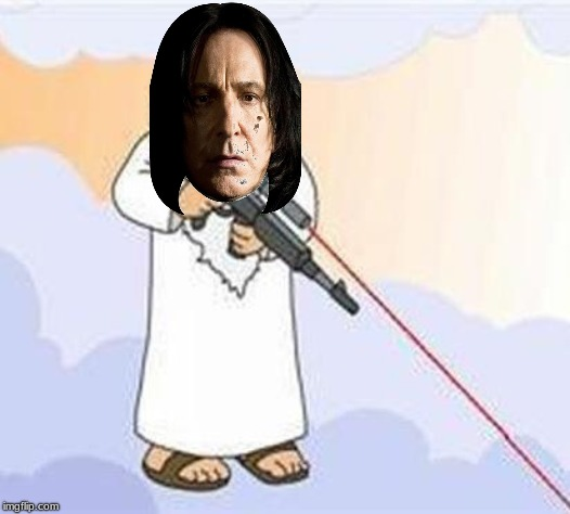 Get Snaped | image tagged in snape,severus snape,harry potter,professor snape,sniper | made w/ Imgflip meme maker