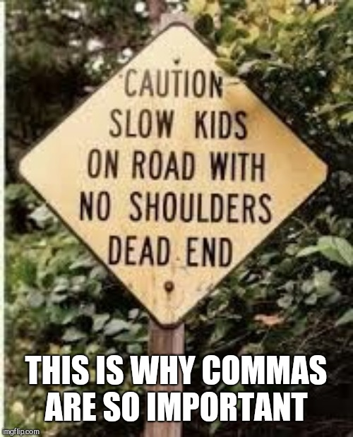 THIS IS WHY COMMAS ARE SO IMPORTANT | image tagged in grammar,stupid signs,commas | made w/ Imgflip meme maker