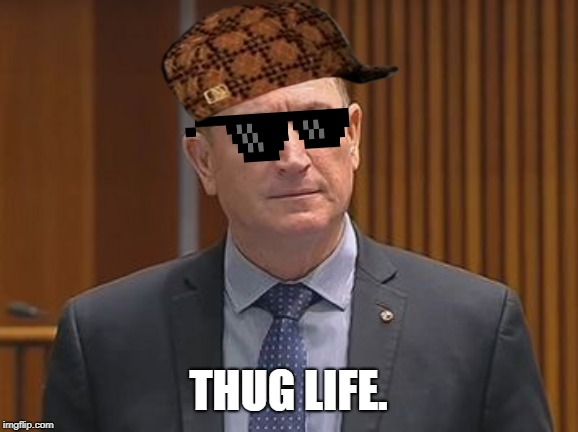 THUG LIFE. | image tagged in fraser anning | made w/ Imgflip meme maker