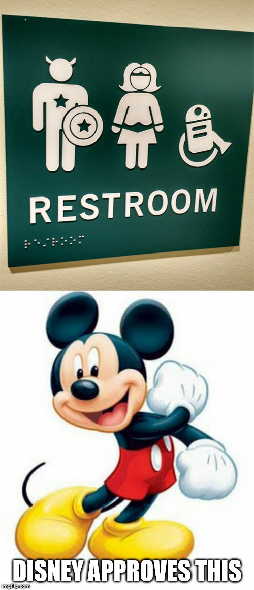 i think this Could be  a Good meme Idea | DISNEY APPROVES THIS | image tagged in mickey mouse,disney,bathroom,marvel,star wars,memes | made w/ Imgflip meme maker