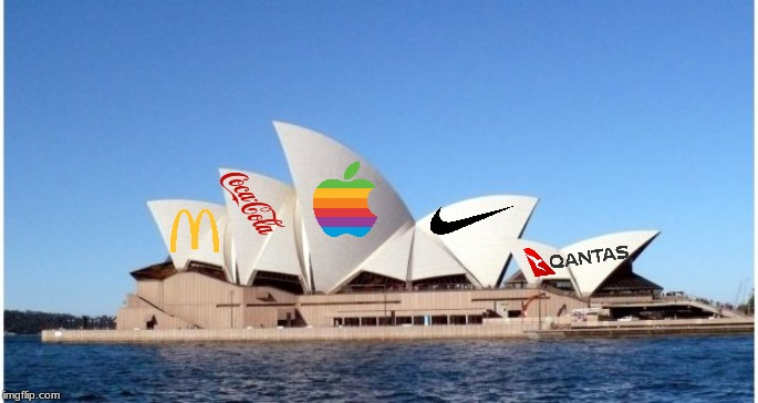 huge white building? AD SPACE!!!!! | image tagged in sydney,opera,house,ads,memes,meanwhile in australia | made w/ Imgflip meme maker
