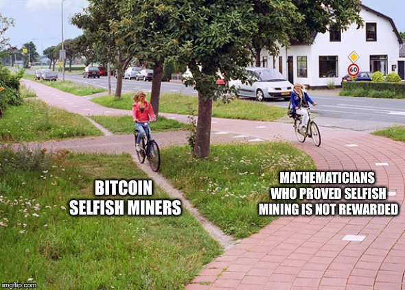 Path: UX vs design | BITCOIN SELFISH MINERS MATHEMATICIANS WHO PROVED SELFISH MINING IS NOT REWARDED | image tagged in path ux vs design,memes,bitcoin | made w/ Imgflip meme maker