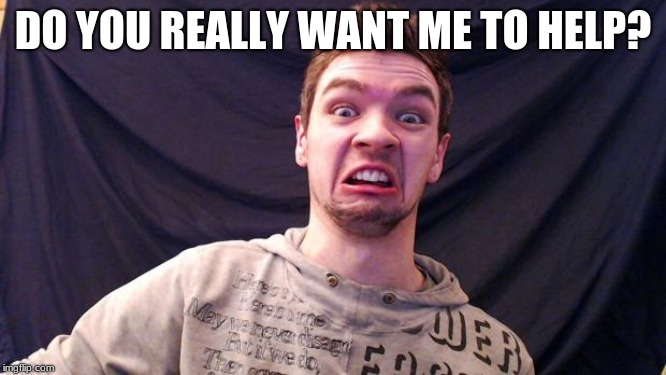Jacksepticeye | DO YOU REALLY WANT ME TO HELP? | image tagged in jacksepticeye | made w/ Imgflip meme maker