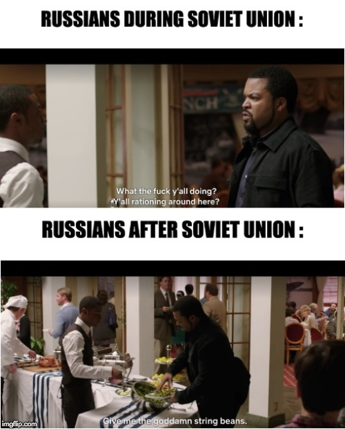 image tagged in memes,funny,22 jump street,ice cube,russia,soviet russia | made w/ Imgflip meme maker