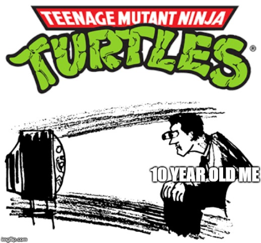 Childhood in a nutshell | 10 YEAR OLD ME | image tagged in tmnt,teenage mutant ninja turtles,tv show,4547stellastreet,funny memes,memes | made w/ Imgflip meme maker