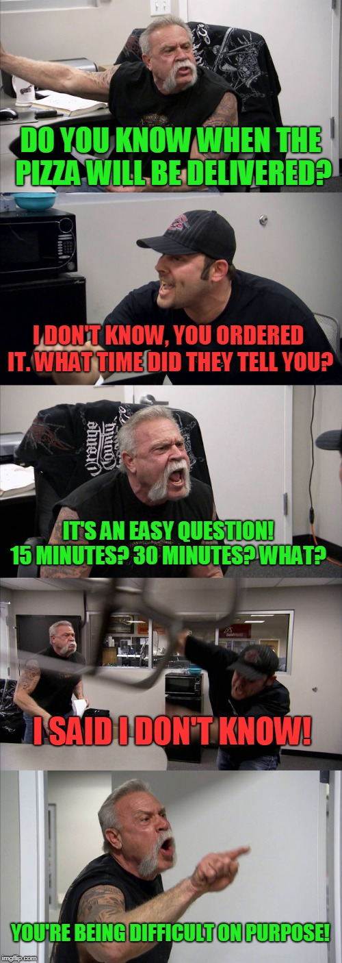 "When your answer to a question is, ""I don't know"", and they keep asking you for details.  