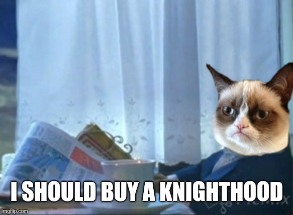I SHOULD BUY A KNIGHTHOOD | made w/ Imgflip meme maker