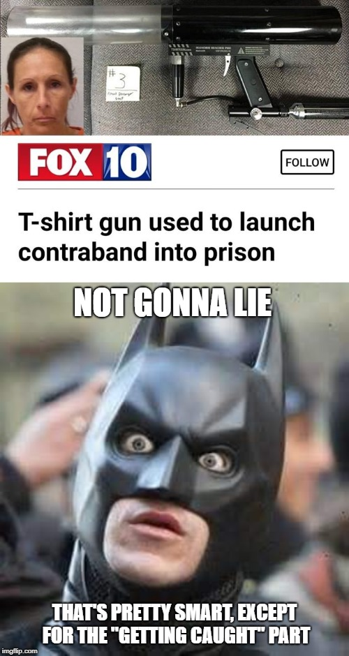 "NOT GONNA LIE THAT'S PRETTY SMART, EXCEPT FOR THE ""GETTING CAUGHT"" PART 