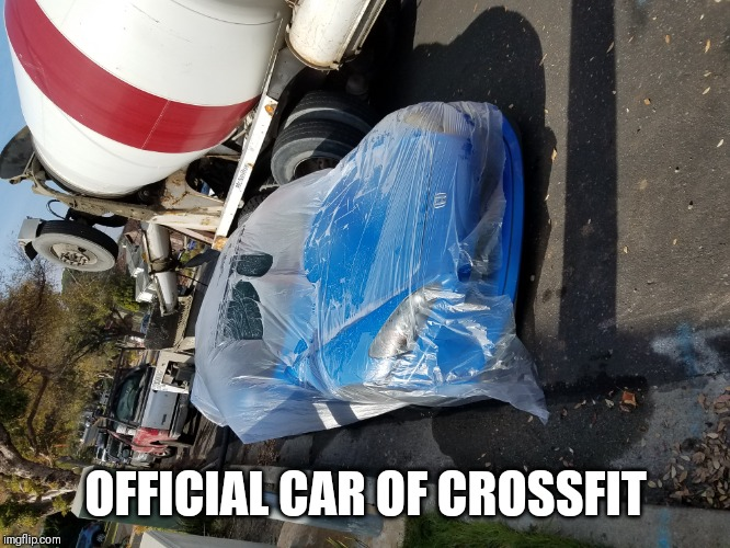 Honda Fail | OFFICIAL CAR OF CROSSFIT | image tagged in gym,comedy,car | made w/ Imgflip meme maker