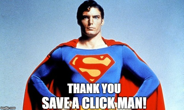 No Clickbait for Superman! | image tagged in superman | made w/ Imgflip meme maker