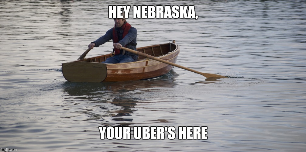 I hope it doesn't go that far :(  (i have relatives in Nebraska) | HEY NEBRASKA, YOUR UBER'S HERE | image tagged in flooding,bad flooding | made w/ Imgflip meme maker