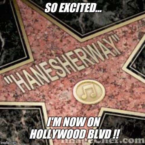 No need to up vote.. I'm already famous !! | SO EXCITED... I'M NOW ON HOLLYWOOD BLVD !! | image tagged in hollywood,celebrity,upvote,slut,jeffrey | made w/ Imgflip meme maker
