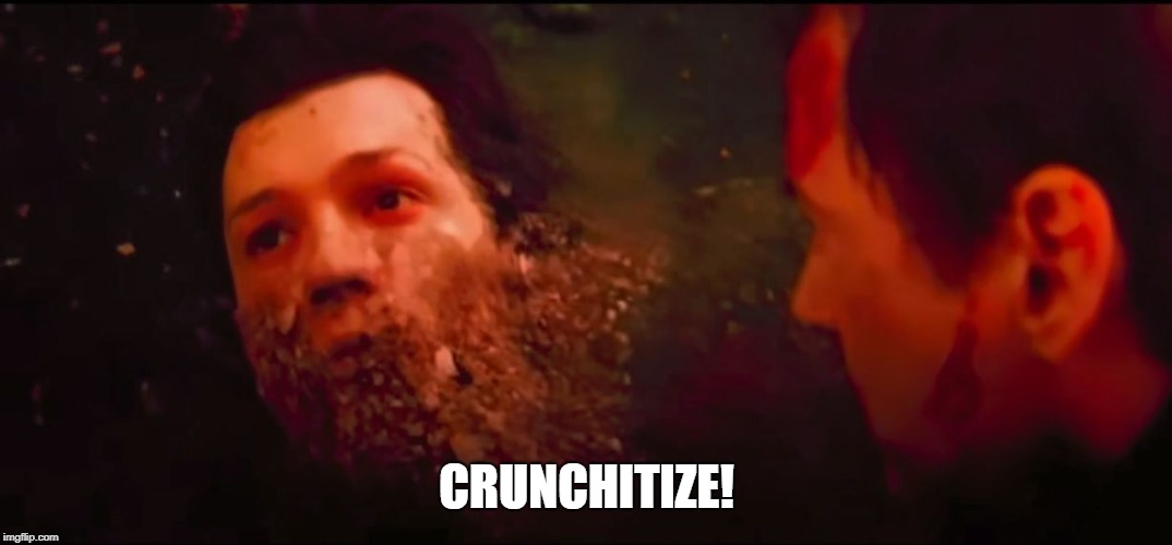 Mr Stark I Taste So Good |  CRUNCHITIZE! | image tagged in captain crunch cereal,infinity war,i don't feel so good | made w/ Imgflip meme maker