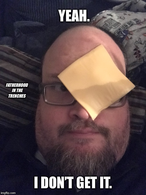 I Don't Get It. | YEAH. I DON'T GET IT. FATHERHOOD IN THE TRENCHES | image tagged in cheese challenge | made w/ Imgflip meme maker