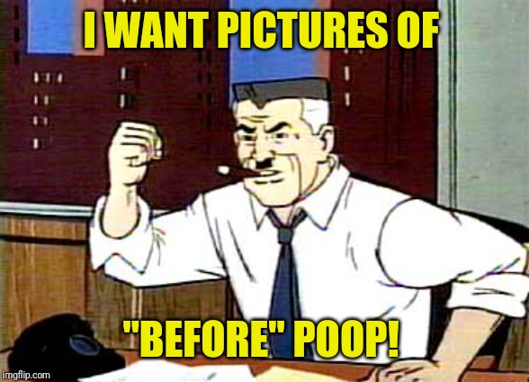 "I WANT PICTURES OF SPIDERMAN | I WANT PICTURES OF ""BEFORE"" POOP! 