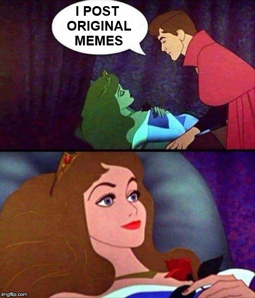 The true way to a memers heart | I POST ORIGINAL MEMES | image tagged in memes,sleeping beauty,original meme | made w/ Imgflip meme maker