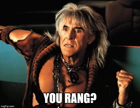 Kahn | YOU RANG? | image tagged in kahn | made w/ Imgflip meme maker