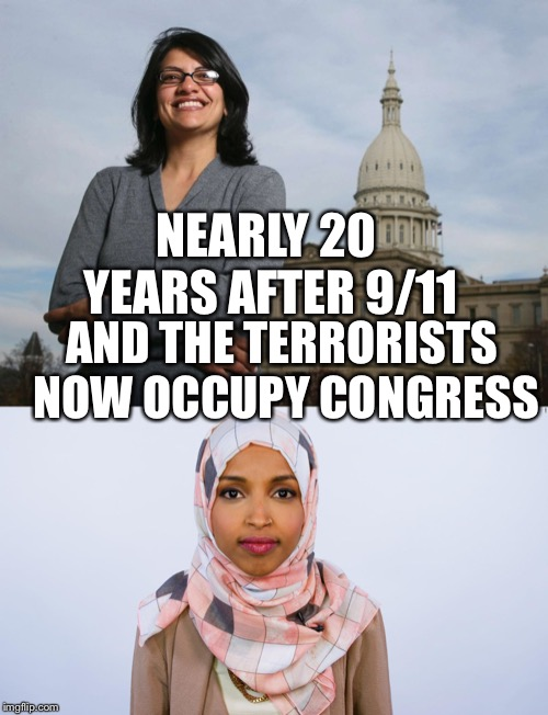 image tagged in ugly muslim rep ilhan omar congress islam